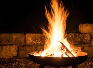 Feuer für ein angenehmes Raumambiente