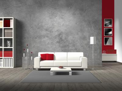 Welche Wandfarbe Passt Zu Grauen Möbeln? Dunkelgraue Wandfarbe Mit Muster