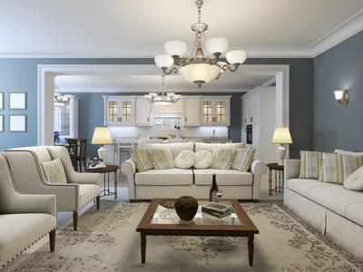 Einrichtungsbeispiel Für Ein Landhaus Wohnzimmer