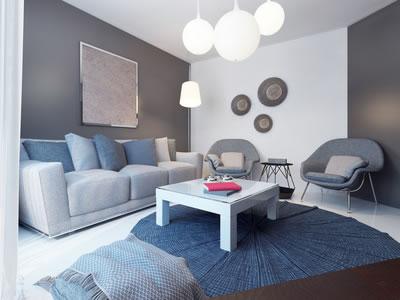 Einrichtungsbeispiel Wohnzimmer Im Lounge Stil